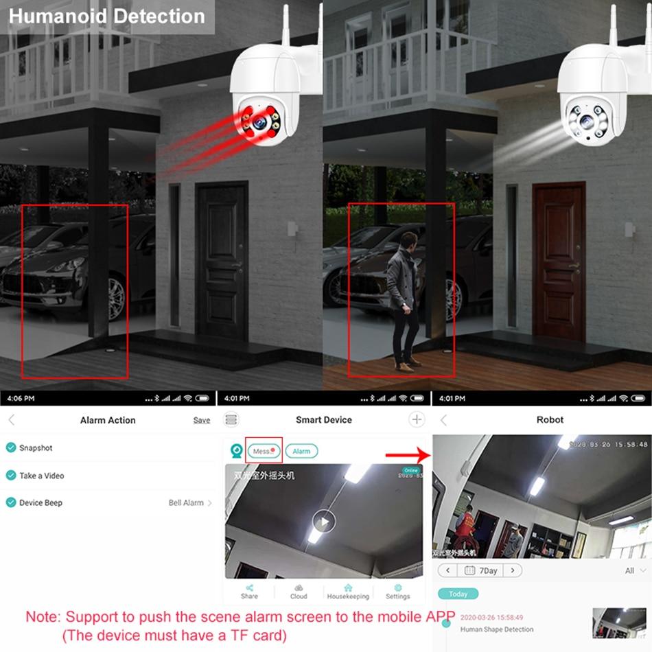 Smar 1080P Outdoor PTZ Wireless IP Camera 4X Digital Zoom Speed Dome Mini WiFi Security CCTV Audio Camera Auto tracking of Human (3)