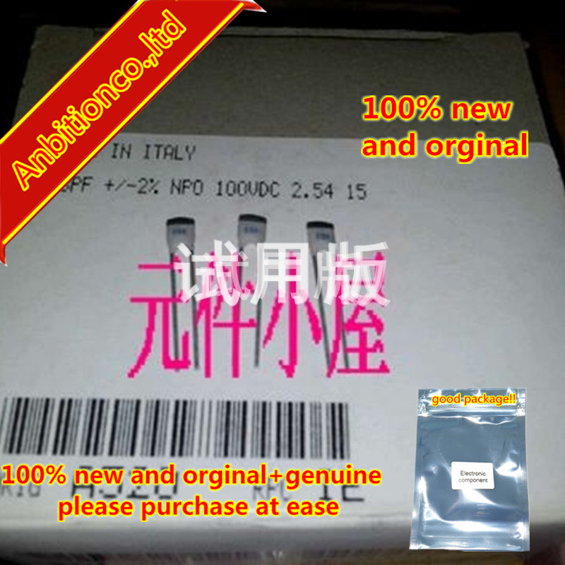10pcs 100% New And Orginal 100V68P 2% Pitch 2.54 Mm BC High Precision Silver Film High Frequency Capacitor MADE IN Ital In Stock