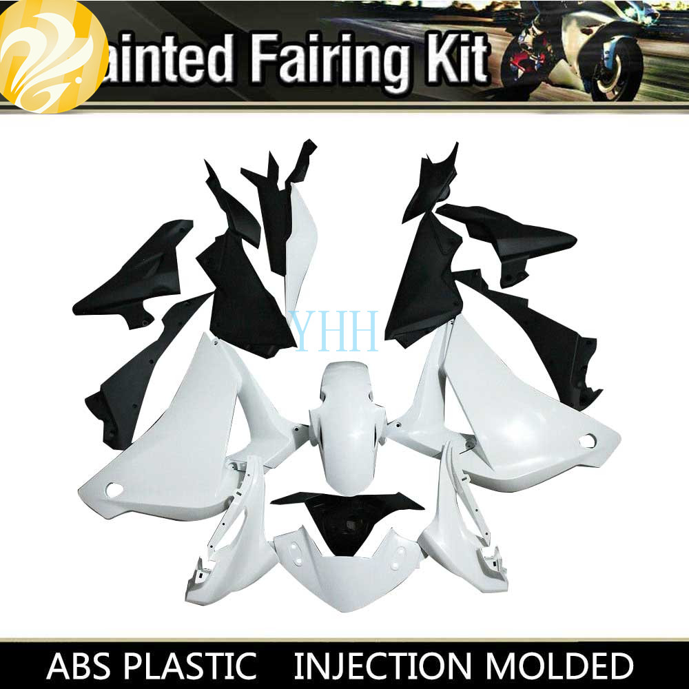For HONDA <font><b>CBR250RR</b></font> CBR 250RR 2011-2013 2012 11-13 Unpainted White ABS Plastic Cowling <font><b>Fairing</b></font> Motorcycle Body Work Set <font><b>Kit</b></font> image