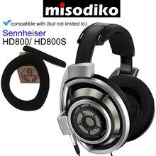 Misodiko החלפת אוזן רפידות כרית ערכת עם פלסטיק קליפ עבור Sennheiser HD800/HD800S, אוזניות תיקון חלקי Earpads