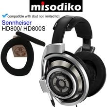 Misodiko almohadillas de oreja de repuesto Kit de cojín con pinza de plástico para Sennheiser HD800/ HD800S, piezas de reparación de auriculares almohadillas para los oídos