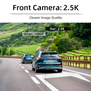 Image 2 - Jansite 10 inches 2.5K Car DVR Touch Screen Stream Media Dual Lens Video Recorder Rearview mirror Dash cam Front and Rear camera