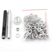 1pc punch tool+1pc eyelets Hand knocking tools+100sets Scrapbook Eyelet Metal DIY for homework clothes sewing