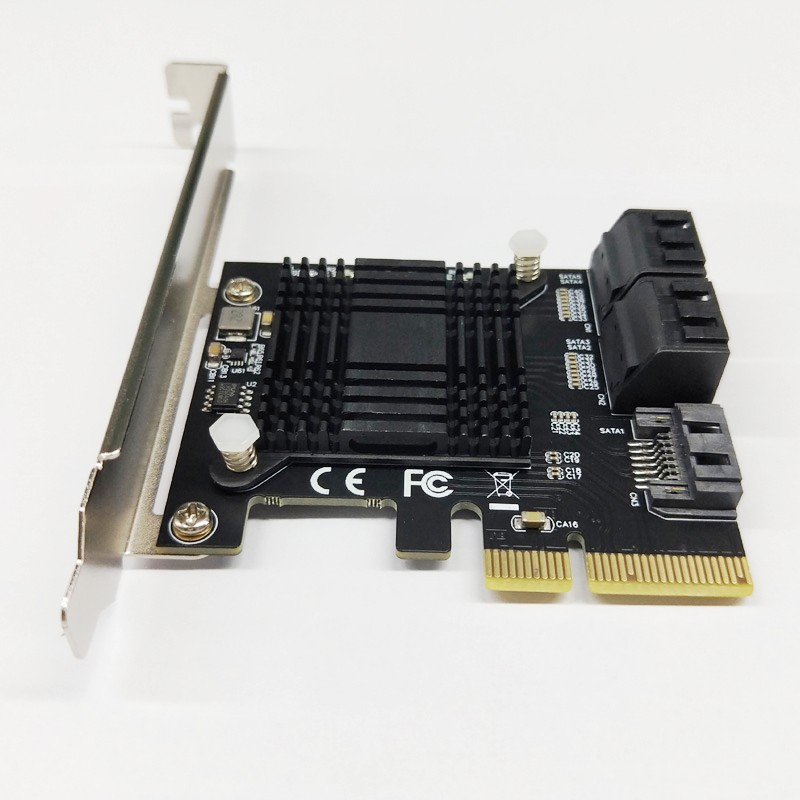 H1111Z Add On Cards PCIE SATA Controller PCI-E SATA Hub/Card PCIE To SATA 3.0 Card 5-Ports SATA3 SSD PCI Express X4 Gen3 Adapter