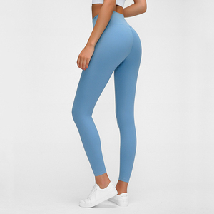 Image 2 - Buttery Soft Naked Feeling High Waist Tight Running Fitness Yoga Sport Pants 4 way Stretch Workout Gym Leggings