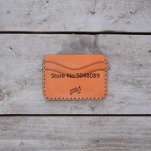 Image 2 - Japan Steel Blade mould DIY leather card holder bag set hand punch tool knife mould wooden die Leathercraft Tool set 105x80mm