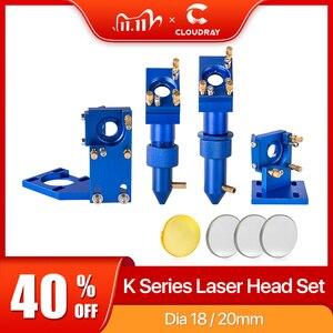 Image 1 - Cloudray K סדרת כחול זהב CO2 לייזר ראש סט עם עדשת מראה עבור 2030 4060 K40 לייזר חריטת מכונת חיתוך
