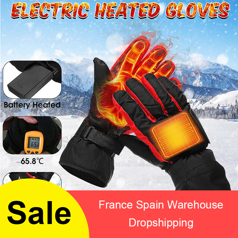 Battery-Type Carbon Fiber Heating Gloves Ski Motorcycle Heated Gloves Winter Hand Warm Gloves перчатки с подогревом