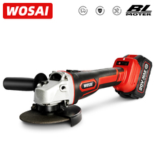 WOSAI Cordless Electric Brushless Angle Grinder 20V Lithium-Ion Grinding Machine Electric Grinder Polishing Cutting Power Tools