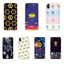 Soft Silicone TPU Transparent Phone Kpop Exo Power Logo For Apple iPhone 4 4S 5 5C 5S SE 6 6S 7 8 Plus X XS Max XR(China)