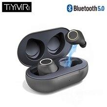 صحيح اللاسلكية سماعة أذن بلوتوث 5.0 سماعات مقاوم للماء سماعات للأذن صغيرة مع سماعة استيريو ومايك اللمس التحكم Handfree سماعة