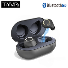 True wireless bluetooth headset Bluetooth 5.0 headphones Waterproof Mini earbuds with Mic Stereo Touch Control Handfree earphone