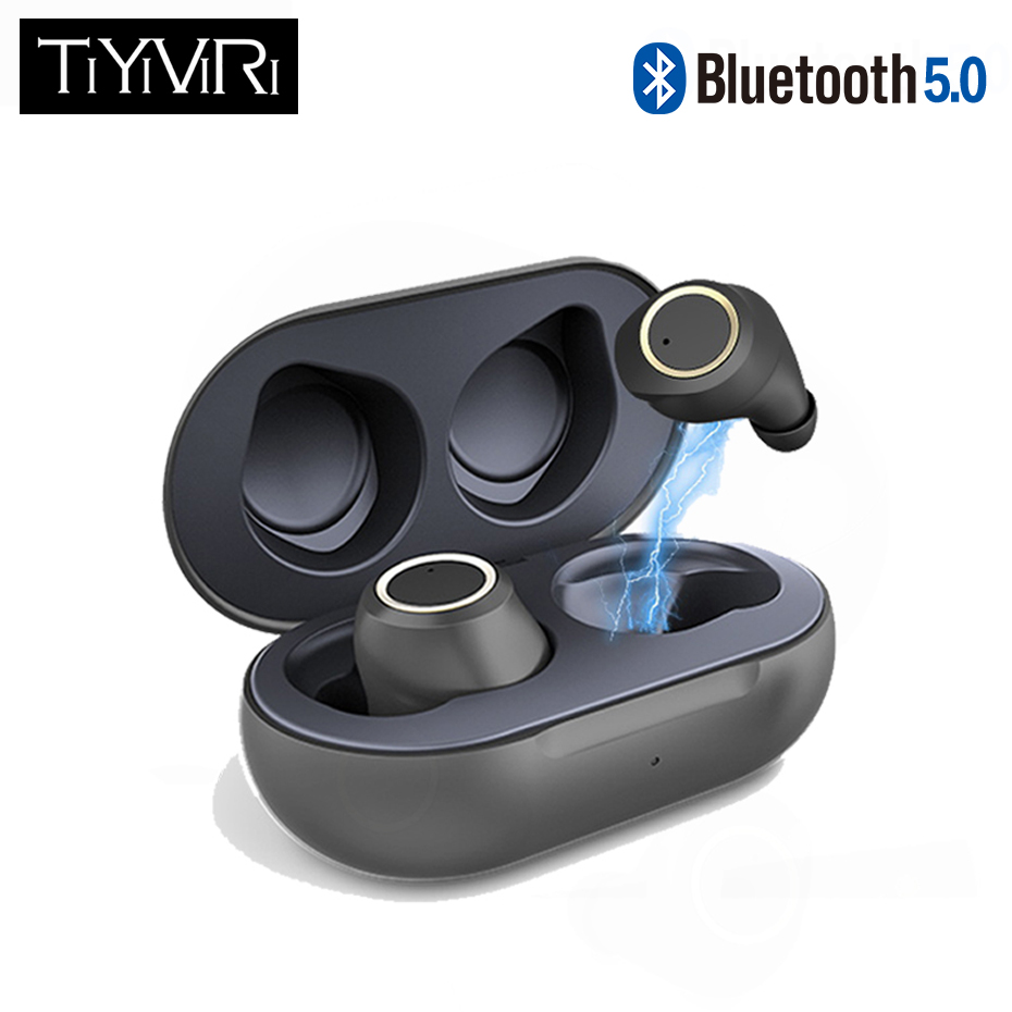 True wireless <font><b>bluetooth</b></font> headset <font><b>Bluetooth</b></font> <font><b>5.0</b></font> <font><b>headphones</b></font> Waterproof Mini earbuds with Mic Stereo Touch Control Handfree earphone image