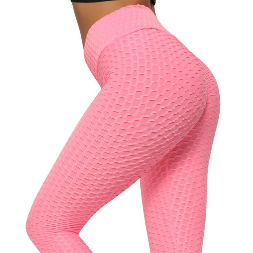 Pink Yoga Pants Women Running Sport Leggings High Waist Tights Leggins 2020 New Female Gym Fitness Push Up Legging Sportswear