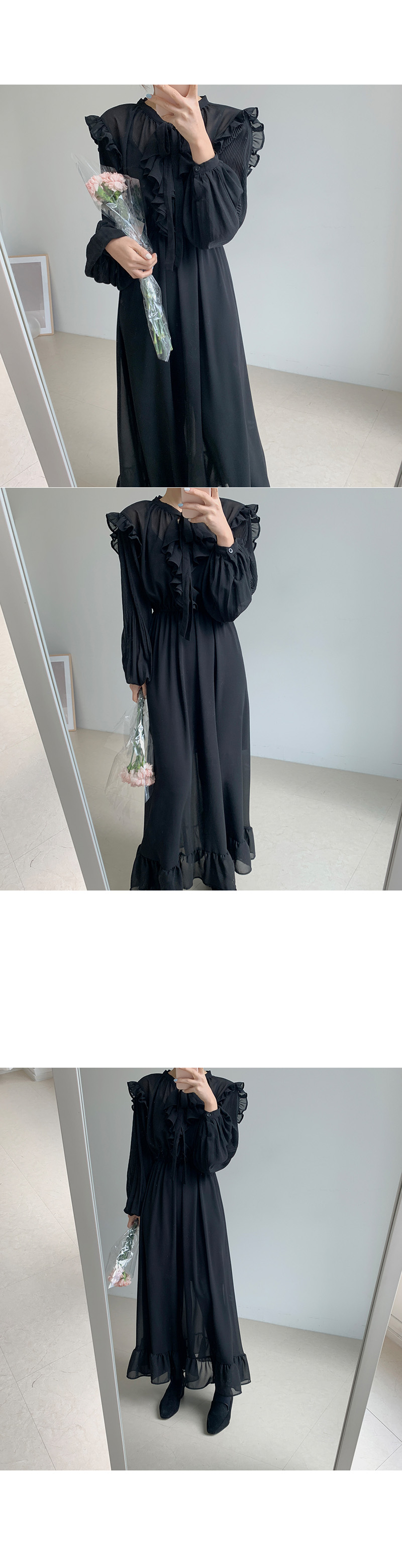 H47262d950bb64ccfa3a8b223c3b90703f - Autumn O-Neck Long Sleeves Chiffon Ruffles Maxi Dress