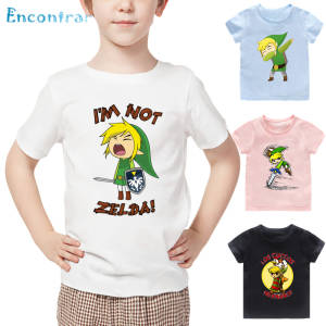 T-Shirt Kids Legend Zelda Children's Girls Cartoon Summer The of Print Triforce Dabbing