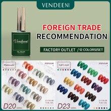 VDN 15ml Gel Polish Varnish UV LED Lamp Gel Polish Nail Art Design Nails Lacquer 12pcs set UV Resin Color Primer
