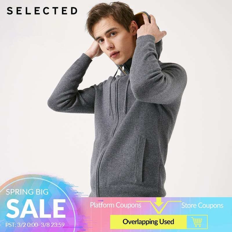 SELECTED Men's Hooded Pullover Hoodies Autumn Knit Sweatshirt Clothes S   419124544
