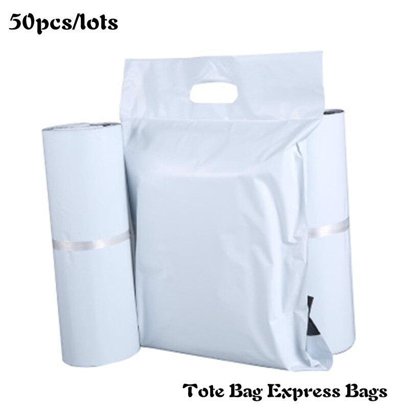 Sac fourre-tout sac Express | Nouveaux sacs de courrier blancs auto-scellant adhésif épais imperméable plastique Poly enveloppe enveloppe de courrier, sacs demballage