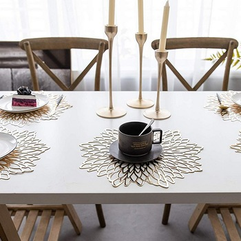 Podkładka na stół liść lotosu wzór liścia kuchnia roślin stolik maty podstawki pod kubek płyta podstawki Home Decor podkładka tanie i dobre opinie CN (pochodzenie) YZ130 Ekologiczne Nowoczesne ROUND SILICONE Maty i podkładki