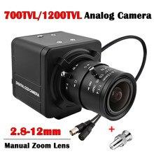 1200TVL CMOS Analog CCTV Camera 700TVL Box Camera 2.8-12mm Varifocal Manual Zoom Metal Body Surveillance Camera