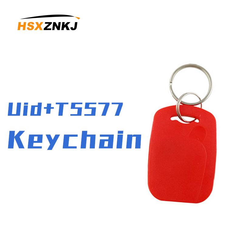 10/20/30 Pieces IC + ID Compound Buckle Dual P-frequency 125 Khz T5577 EM4305 +13.56 Mhz Re-writable Dual-chip RFID Key Tag