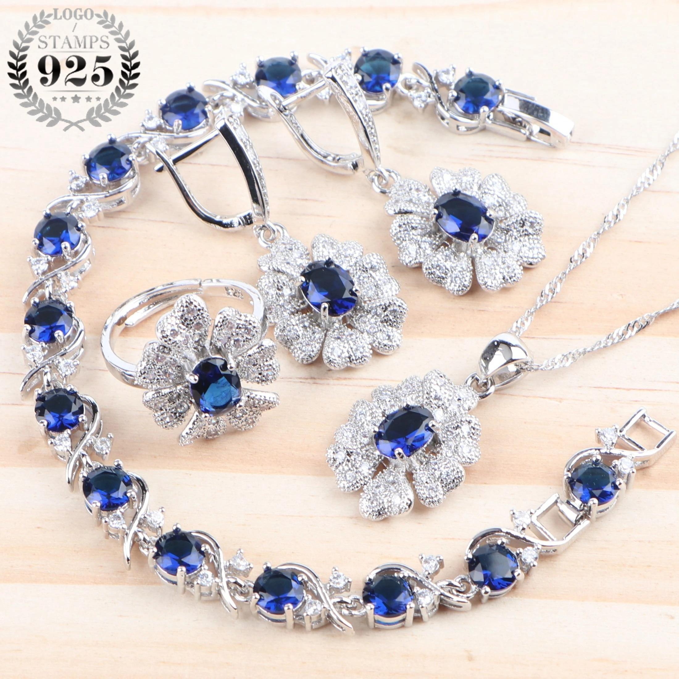Blue /& Green Cubic Zirconia Sokolov Russian Jewelry 925 Silver Earrings with Opal