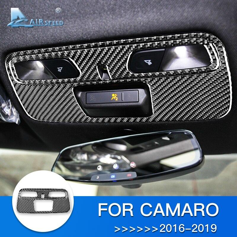 Carbon Fiber Inner Window Switch Panel Cover Trim For Chevrolet Camaro 2016-2018