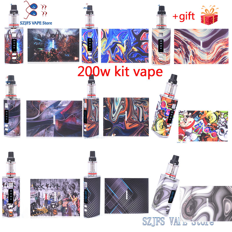 Newest 4400mah For 510 Bypass 200W VW Temperature Control TCR Mod Txw RtA Falcon Tank Vape Mod Electronic Cigarette Box Fashion