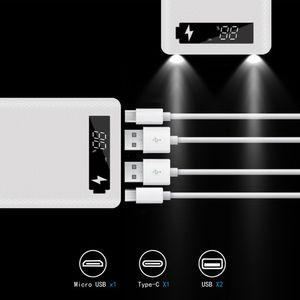Image 3 - LCD ディスプレイ DIY の 10 × 18650 バッテリーケース電源銀行シェルポータブル外部バッテリー Powerbank プロテクターなしボックス