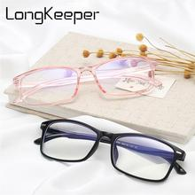 LongKeeper Fashion Optical Glasses Frame Men Women 2019 New Ultralight Square Transparent Spectacles Clear Lens Eyewear