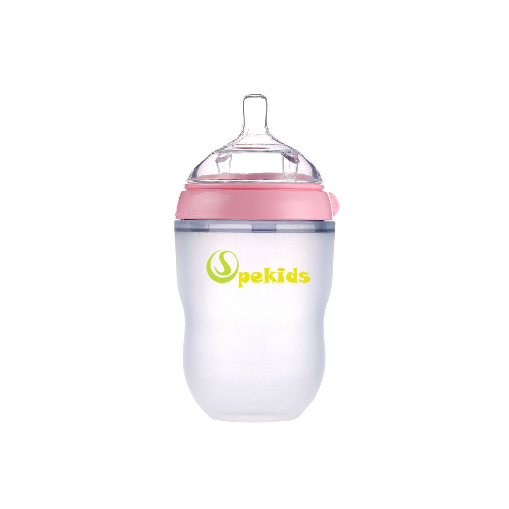 Mamadeira BPA Free Spekids 150ml & 250ml Silicone Bottle Spoon Gift Baby Bottle Biberon