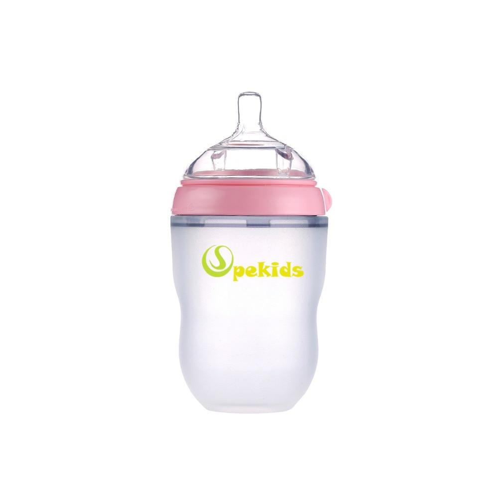Mamadeira BPA Free Spekids 150ml & 250ml Silicone Bottle Spoon Gift Baby Bottle Biberon