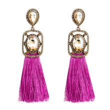 2Colors Bohemian Style Long Thread Tassel Dangle Earrings for Women Fashion Jewelry Maxi Collection Accessories