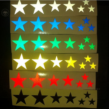 1 Sheets Mountain Bike Reflective Stickers Frame Wheel Rim Sticker Fluorescent Stars MTB Bicycle Reflector Decal Accessories image