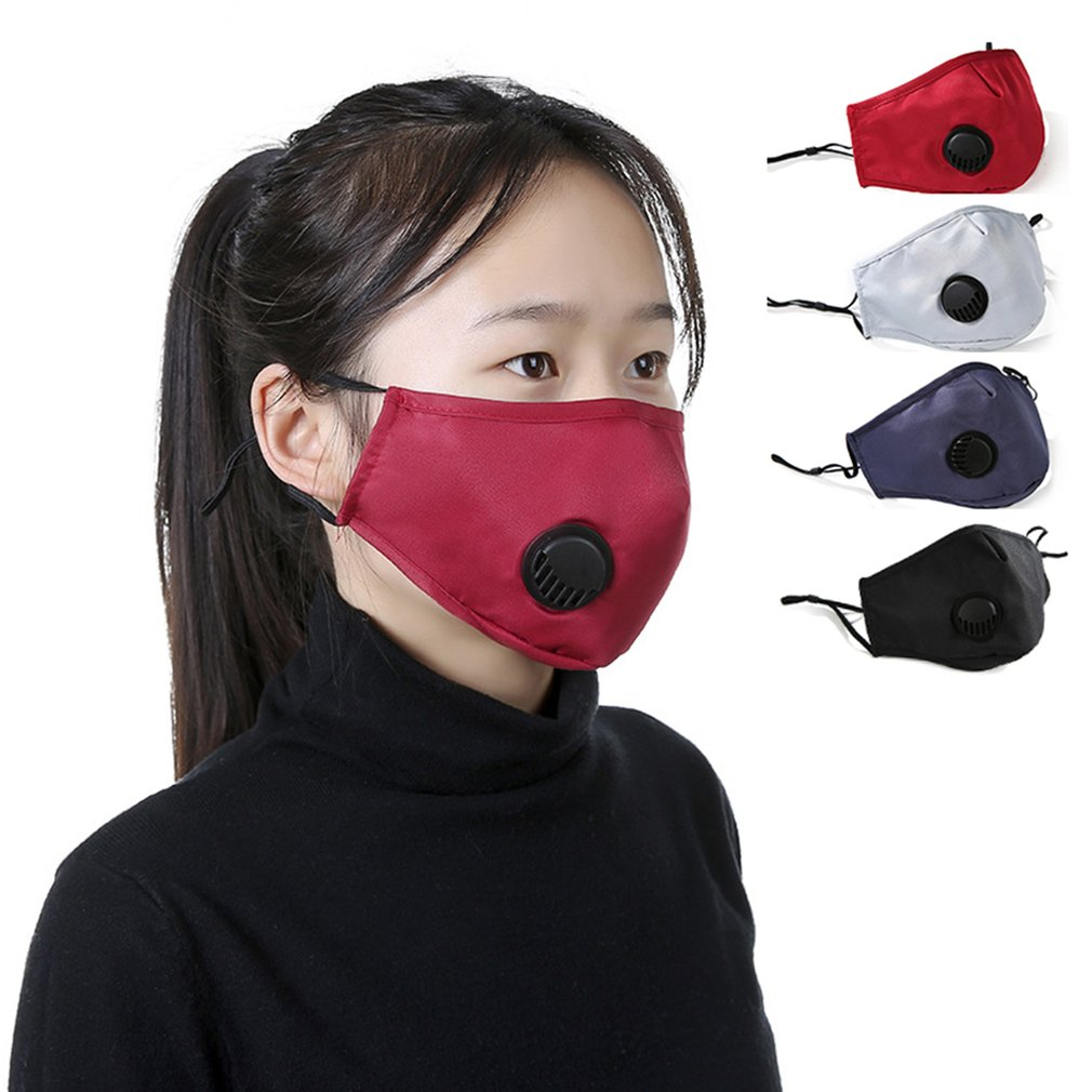Washable Dust-Proof And Haze-Proof Cotton Mask PM2.5 Breathing Valve Mask Sponge Three-Dimensional Filter Replaceable