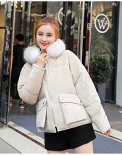 Winter Women Parkas women Casual velvet fabric Thicken Warm jackets female Cotton down sintepons coat