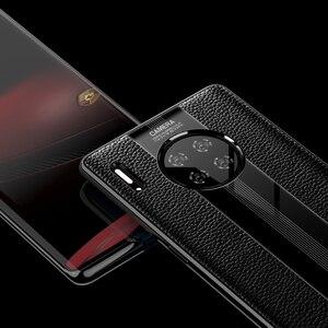 Image 3 - יוקרה אמיתי עור מקרה עבור Huawei Mate 30 פרו מקרה עור עמיד הלם חזרה כיסוי אופן בסיסי Mate30 פרו מגן מקרה