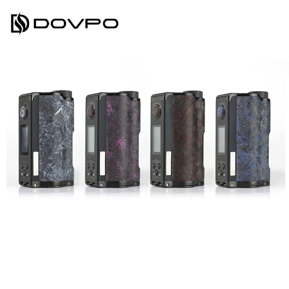 Original DOVPO arriba de carbono Dual Squonk Mod wi/Nueva YIHI Chip y pantalla de 0,96 pulgadas 10ml de silicona botella Ecig Mod Vape del Drag 2