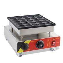 SUCREXU Commercial Electric 25pcs Poffertje Grill Mini Dutch Pancake Maker Baker Nonstick Waffle Machine 110v 220v