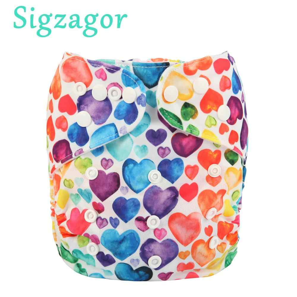 [Sigzagor]Baby Pocket Cloth Diaper Nappy Reusable Adjustable Washable Mcrofleece Inner 3kg-15kg 8lbs-36lbs