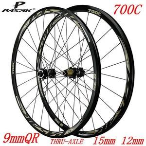 PASAK 700C герметизированный диск для дорожного велосипеда, колеса с 12 скоростями, 30 мм, обод по оси 29 дюймов, Внедорожные колеса