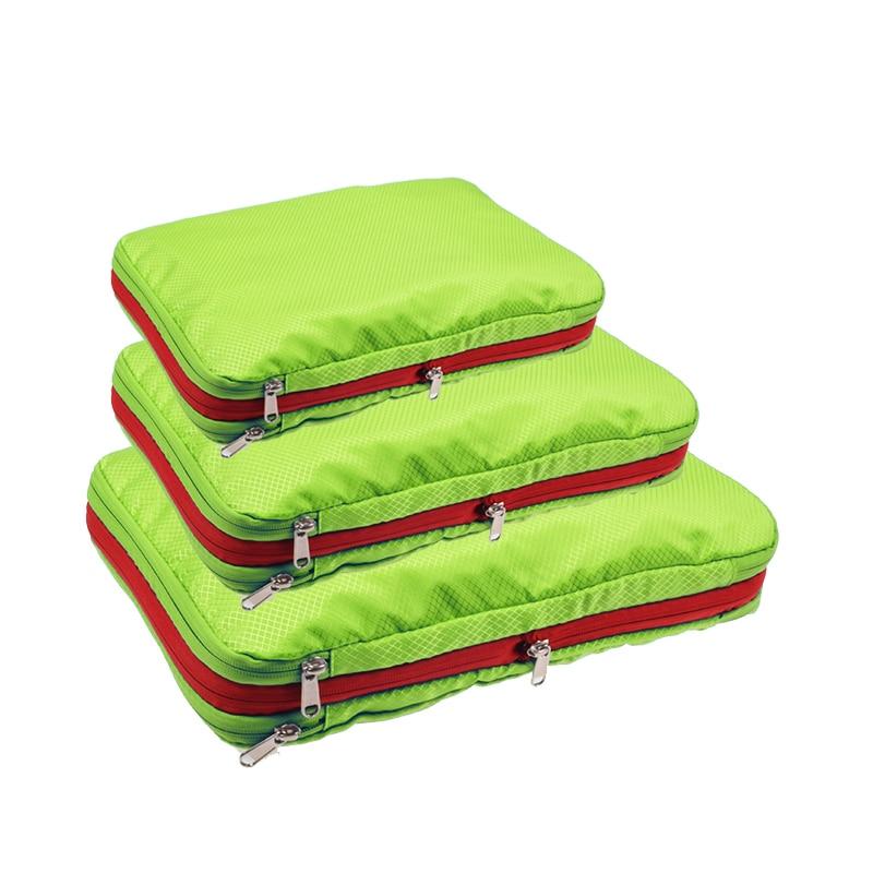 Men Women Compression Packing Cubes Travel Luggage Organizer Waterproof Packing Cubes Large Capacity Foldable Nylon Travel Bag