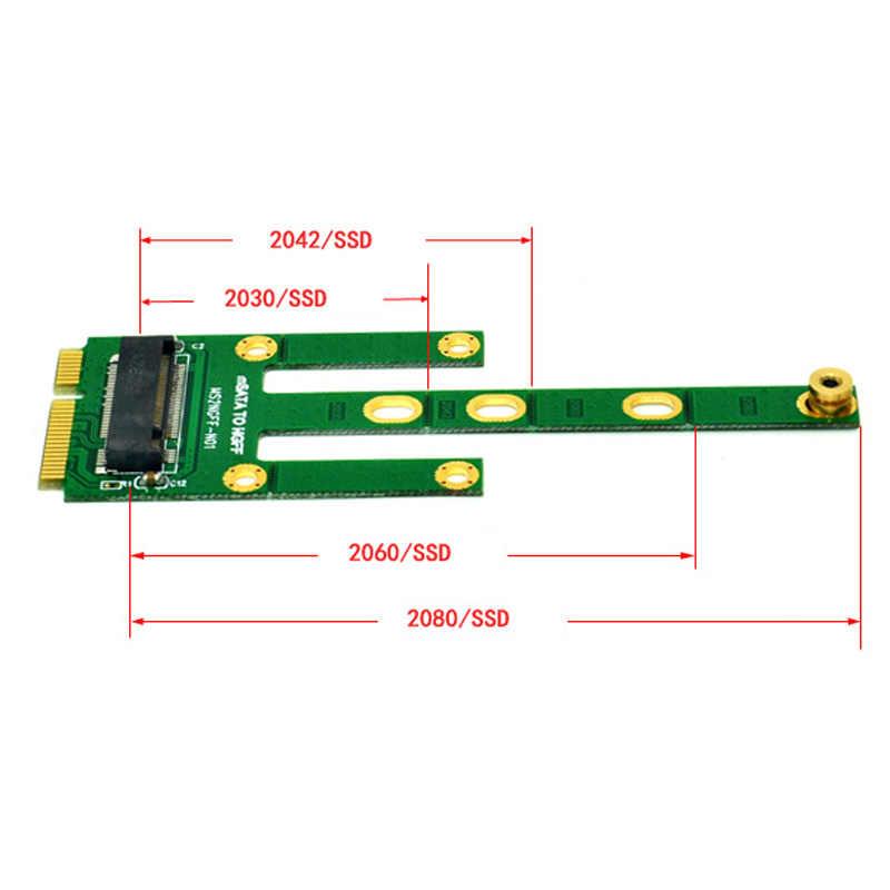 MSATA untuk M.2 NGFF Adapter Mengkonversi Kartu 6.0 GB/s NGFF M.2 SATA-Bus SSD B Kunci untuk M SATA Pria riser M.2 Adaptor untuk 2230-2280 M2 SSD