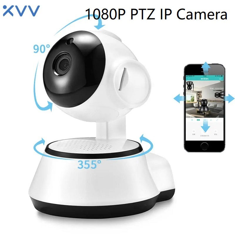 1080P WiFi IP Camera Baby Monitor PTZ Wireless Webcam XiaoVV Q6S Home Security Two Way Audio Motion Detection IR Night Vision