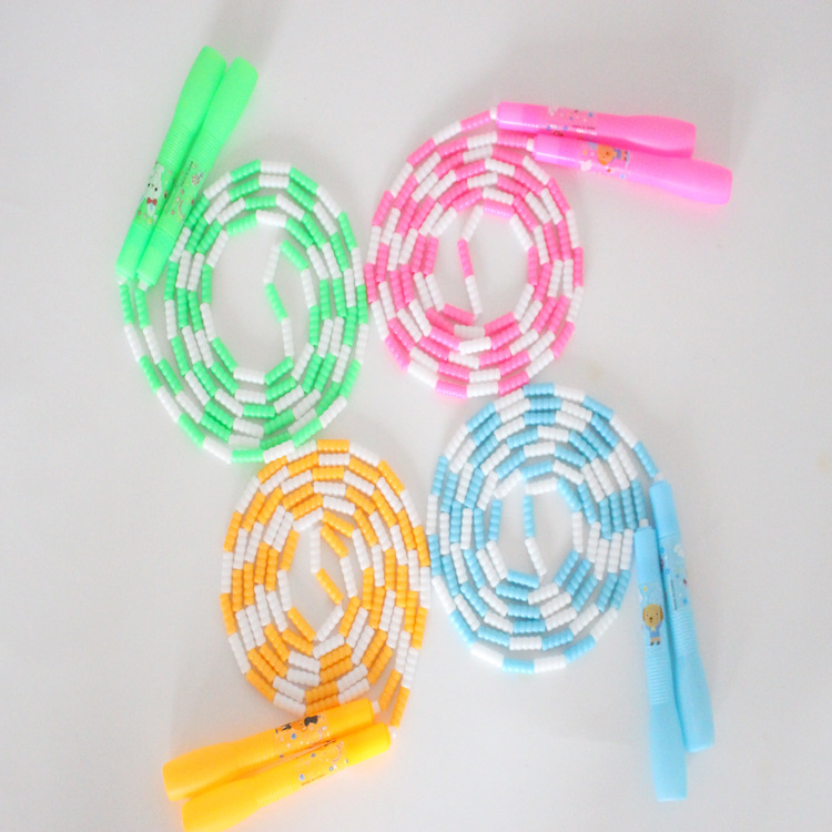 Maijiu Gift) Adult Fitness Count Jump Rope Primary School STUDENT'S Children Bamboo Joint Beads Jump Rope Pattern Jump Rope