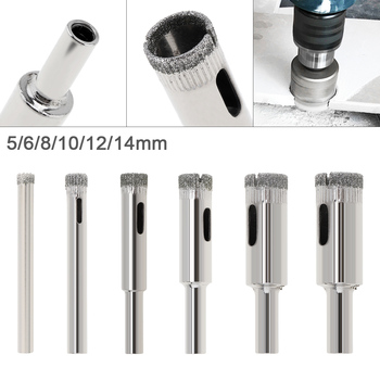 цена на 5-14MM Diamond Coated Core Hole Saw Drill Bit Set Tools Glass Drill Hole Opener for Tiles Glass Ceramic