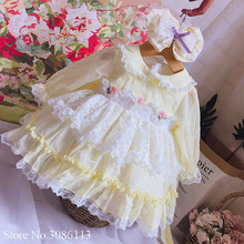 Dress for girls Ball-Gown Long Sleeve Lace Clothing O-neck Children Dresses Princess Spanish Vintage Autumn Kids Baby Girl Dress