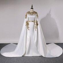 فساتين سهرة طويلة كلاسيكية في دبي لعام 2020 فساتين رسمية للحفلات من الساتان مزين بكريستال Vestidos Robe De Soiree