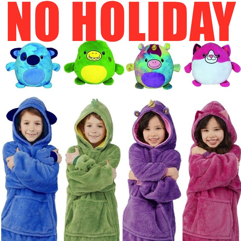 VIP DROPSHIP Quality Huggle Hooded Hoodie Sweatshirt Warm Pets Winter Coats Bathrobe Fleece Pullover Children Christmas Gift